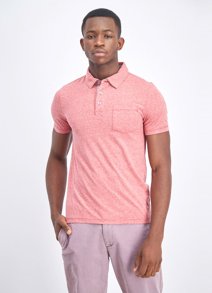 Men's Pocket Chest Polo Shirt, Red