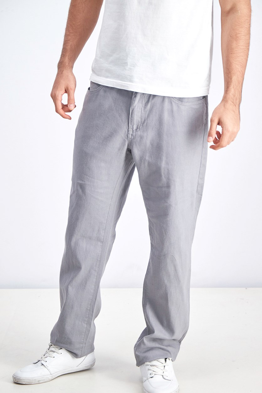 Men's Straight Leg Pants, Grey