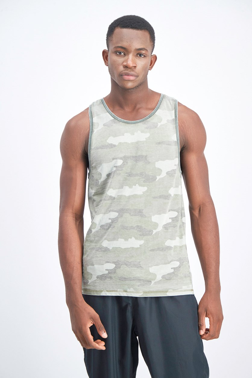 Men's Camouflage Tank Top, Green