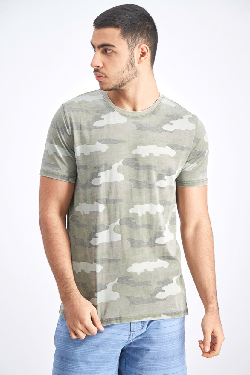 Men's Camo Priint Shirt, Olive
