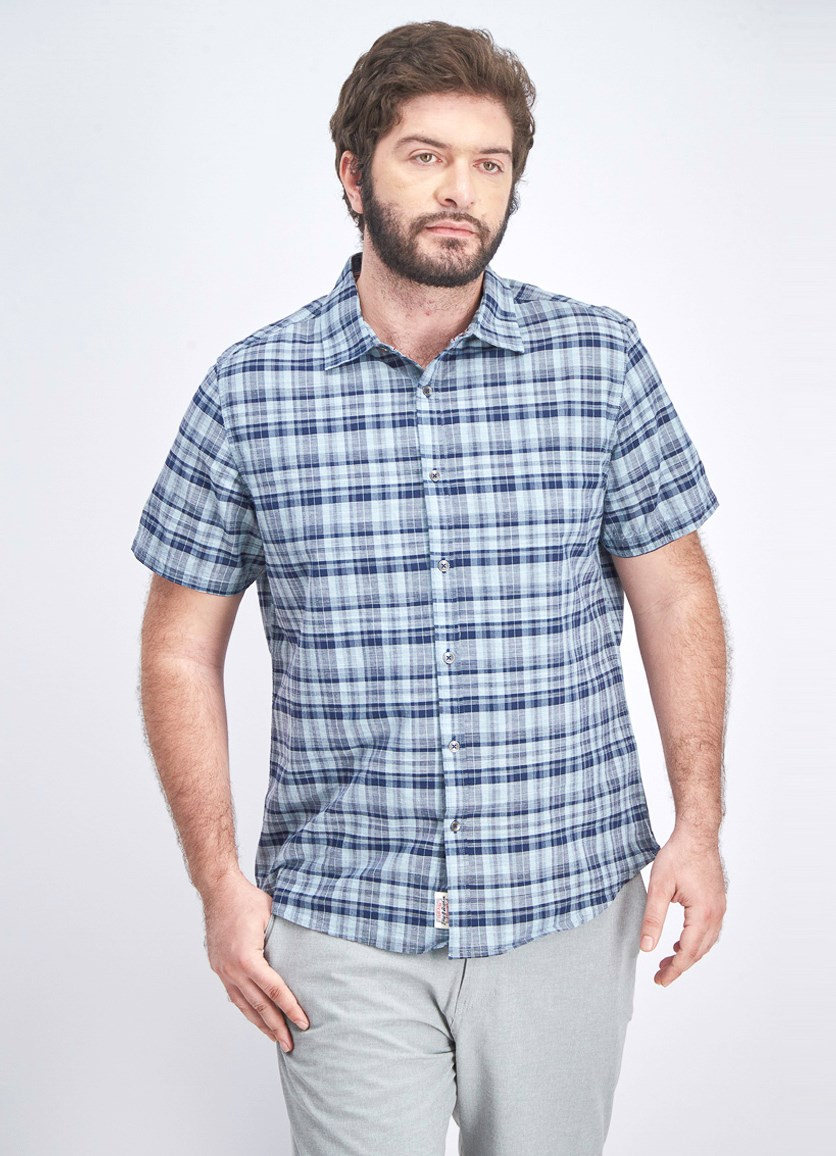 Men's Woven Casual Shirt, Navy