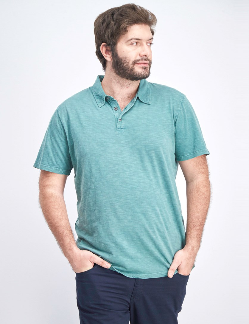 Men's Weaton Polo Shirt, Sea Green