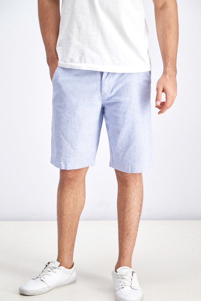 Men Textured Short, Blue