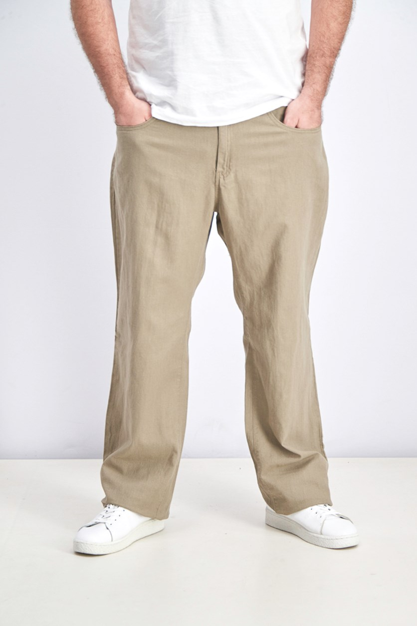 Men's Five Pocket Pants, Tan