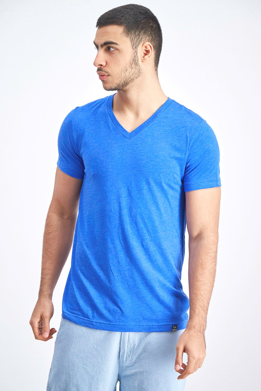 Men's V-Neck Shirt, Blue