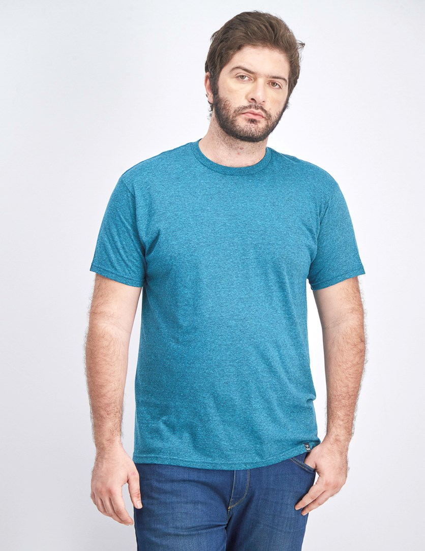 Men's Knit Shirt, Teal