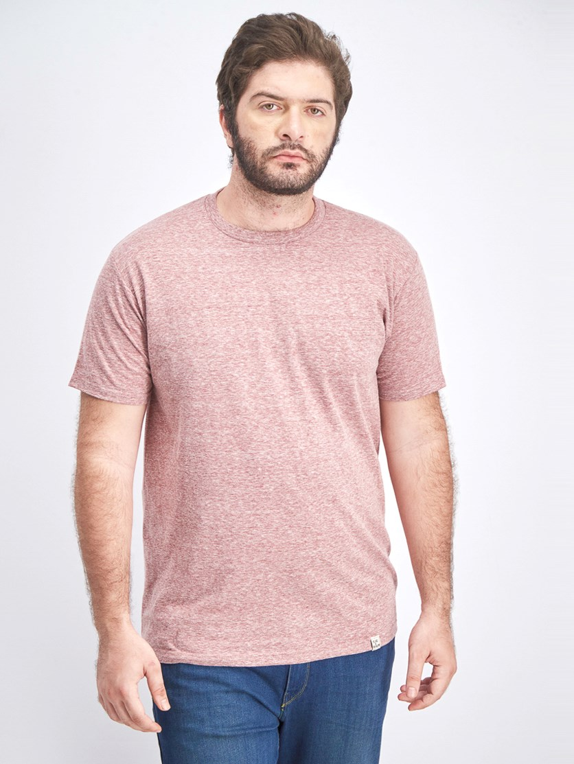 Men's Heather Pullover T-shirt, Mineral Red