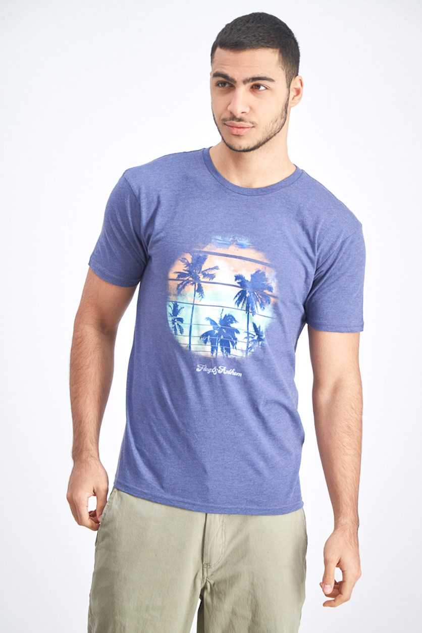 Men's Graphic T-Shirt, Navy Heather