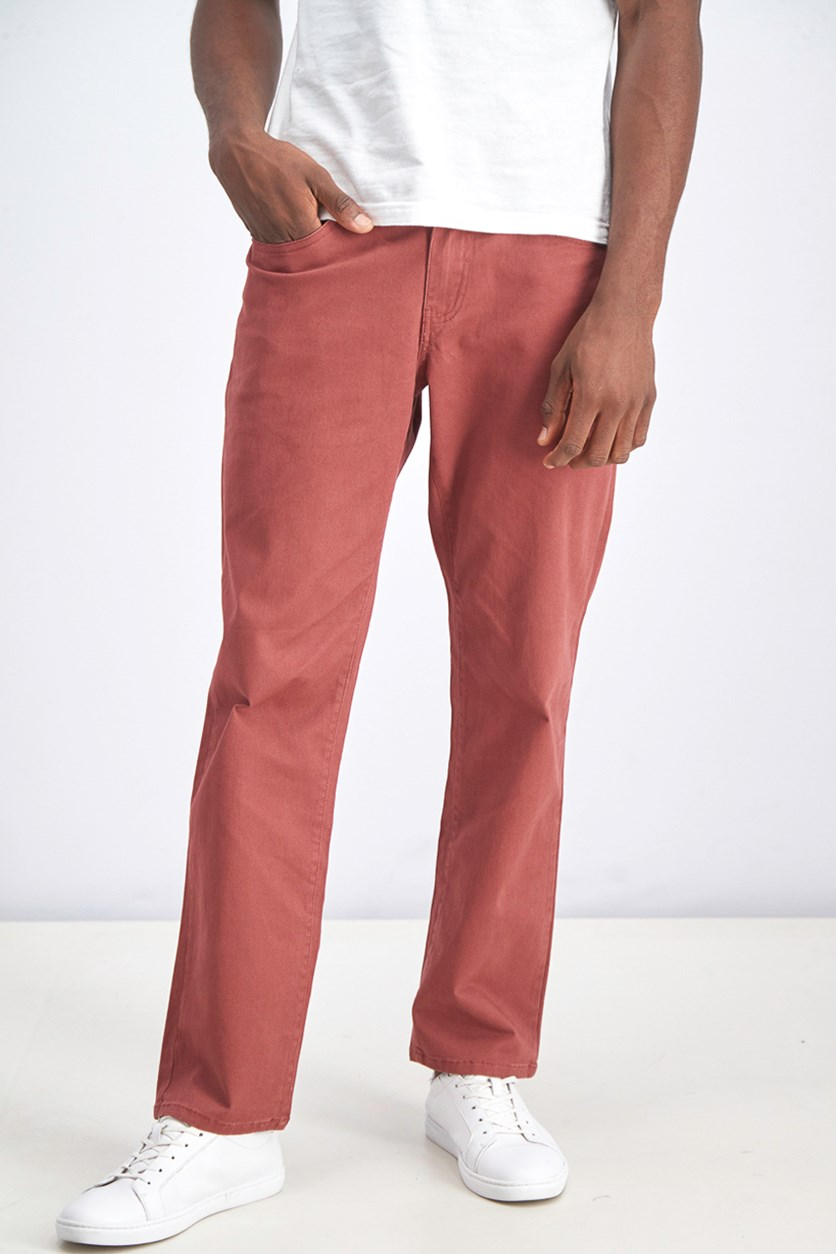 Men's Wallburg Straight Pants, Washed Brick