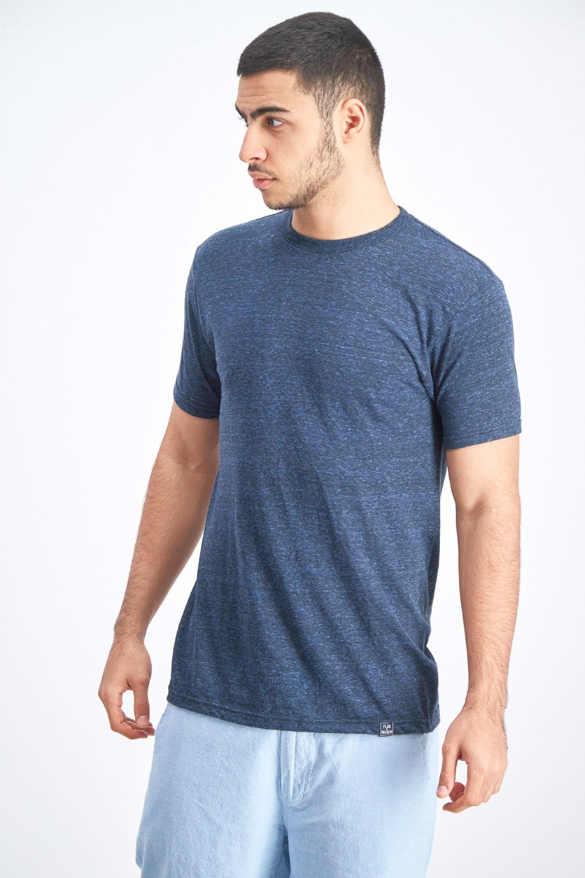 Men's Crew Neck Shirt, Heather Navy