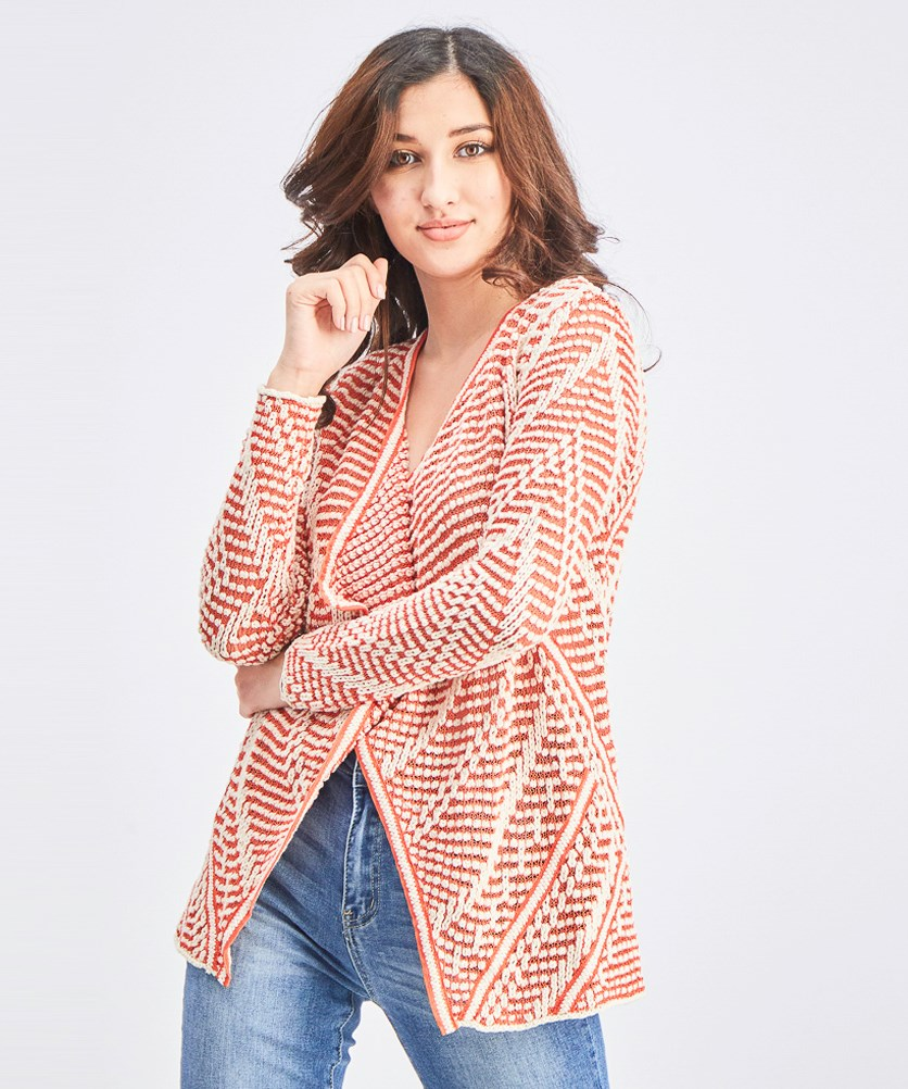 Women's Diamond Dot Cardigan, Cinnabar