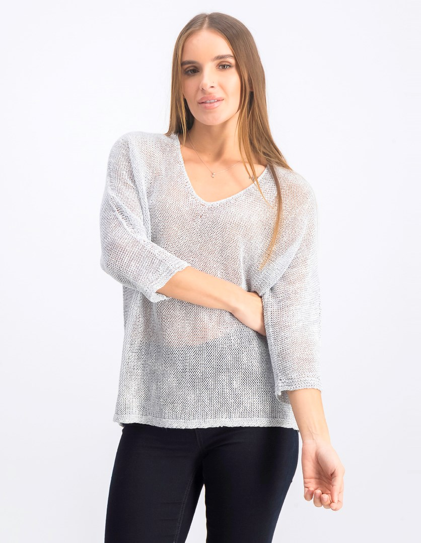 Women's Textured Sunkissed Top, Light Indigo