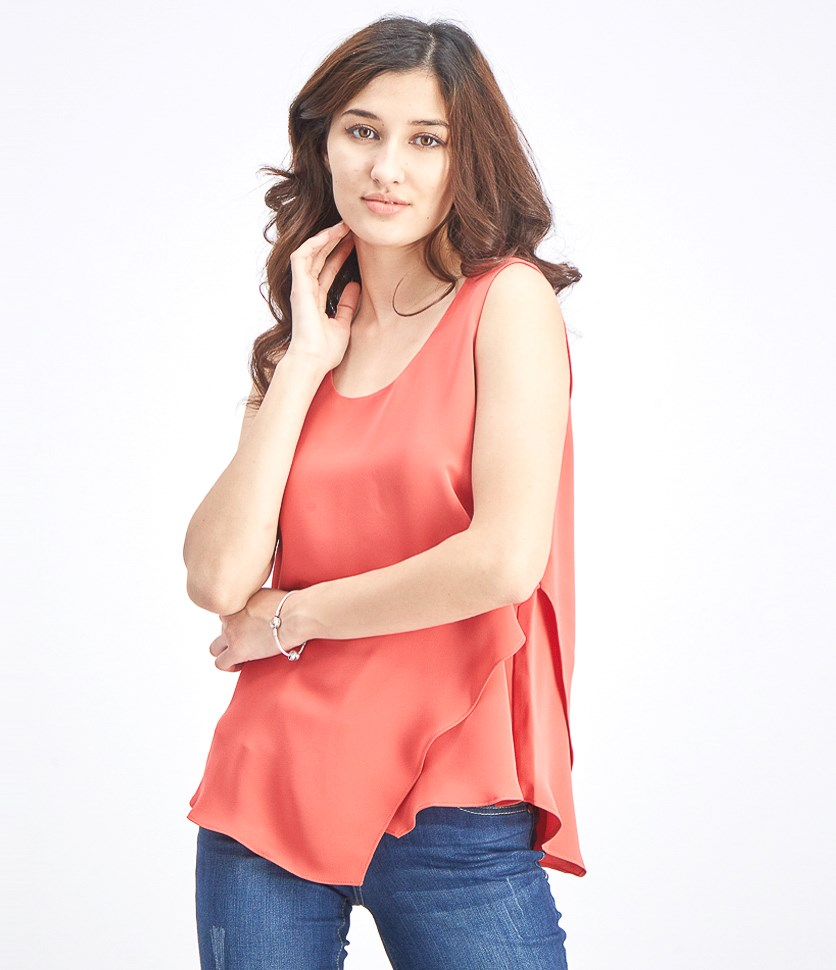 Women Sleeveless Top, Spiced Rose