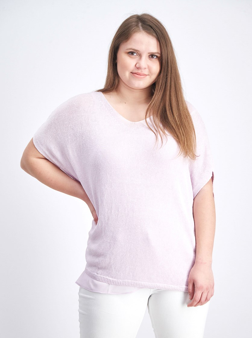 Women's Lived In Top, Lavender