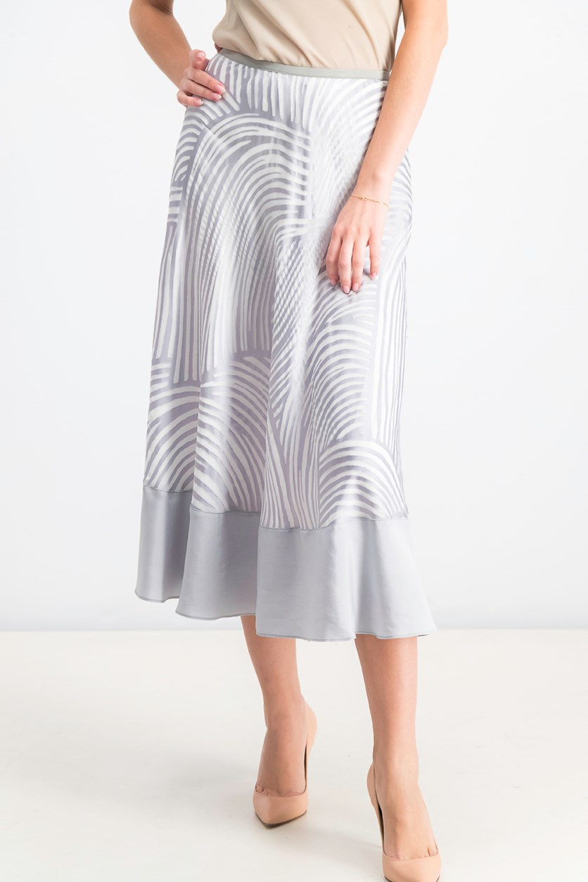 Women's Bohemian Groves Skirt, White/Silver