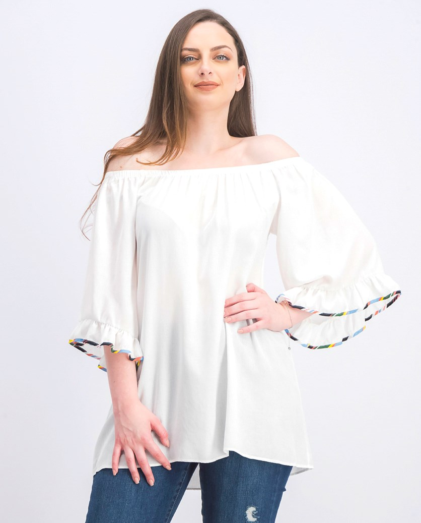Women's Denim Days Off-The-Shoulder Top, White