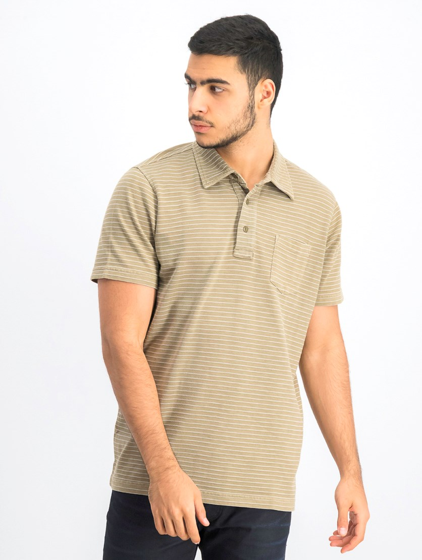 Men's Short Sleeve Polo Shirt, Wood