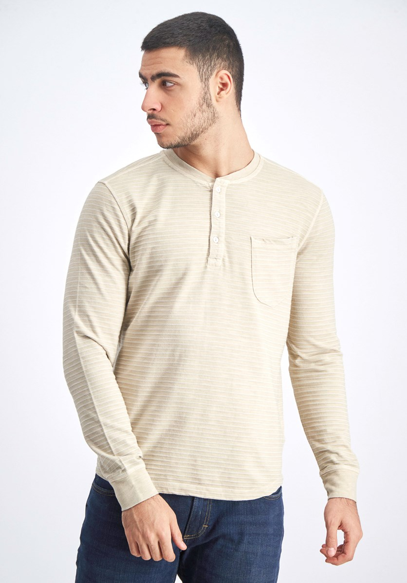 Men's Pullover Long Sleeves T-shirt, Fog