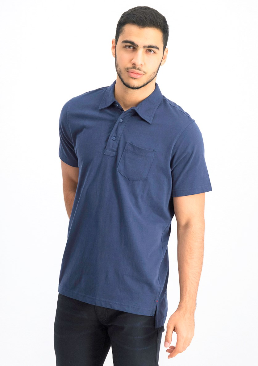 Men's Short Sleeve Polo Shirt, Indigo