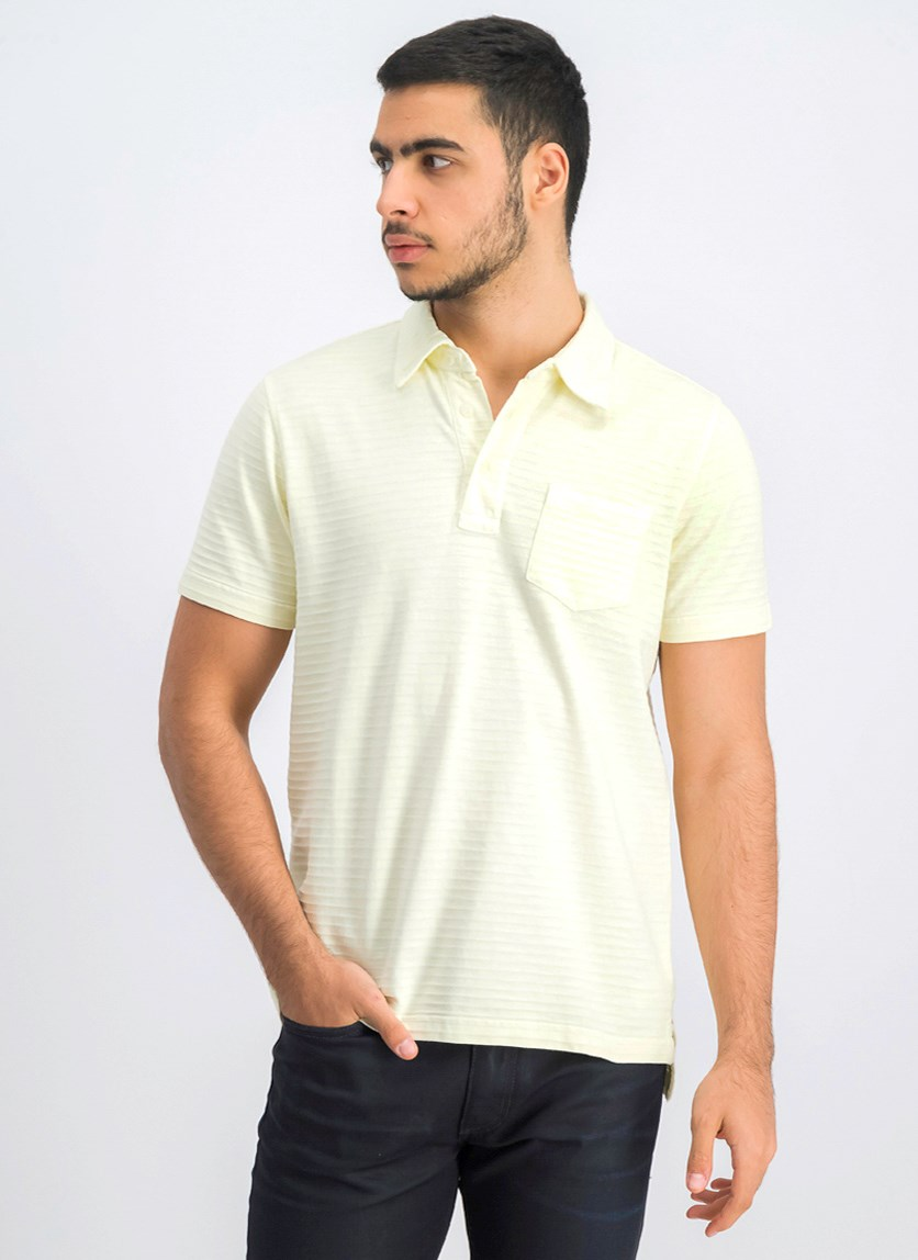 Men's Short Sleeve Polo Shirt, Yellow