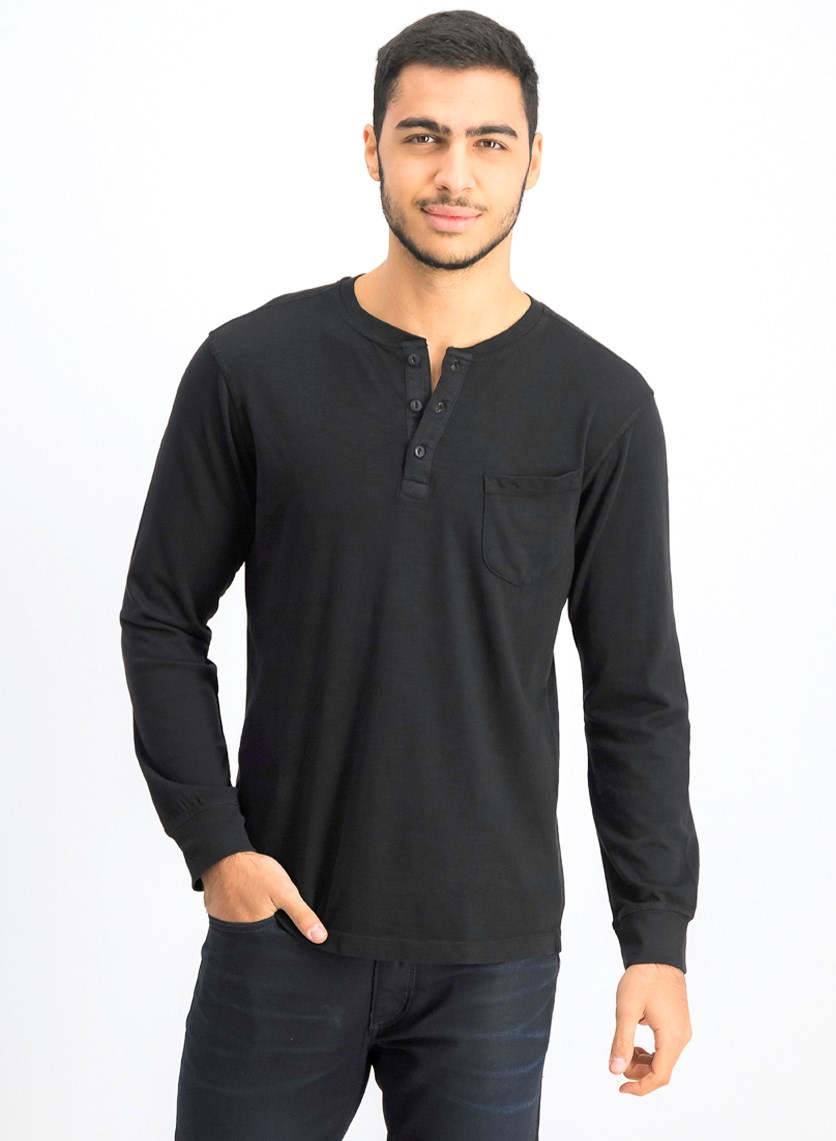 Men's Long Sleeve Sweater, Black
