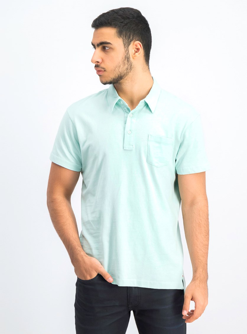 Men's Short Sleeve Polo Shirt, Glacier