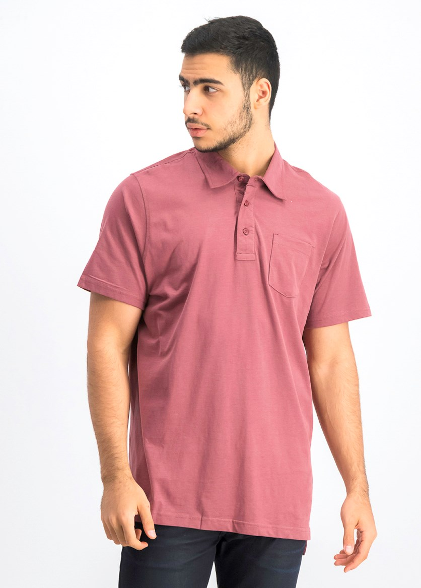 Men's Short Sleeve Polo Shirt, Chili Oil