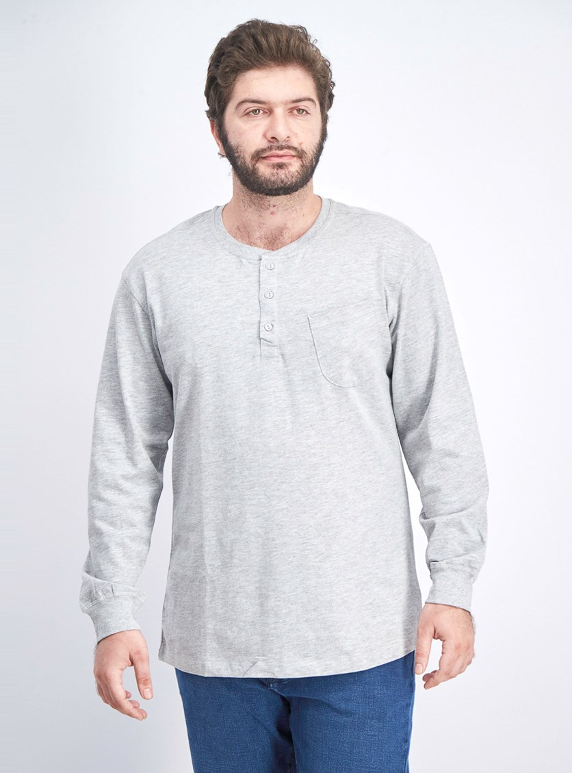 Men's Pullover Sweater, Light Heather Grey