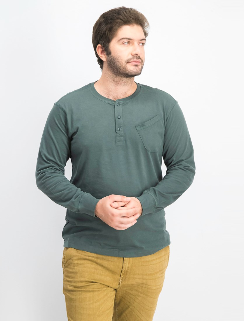 Men's Pullover Long Sleeves T-shirt, Pond Pine