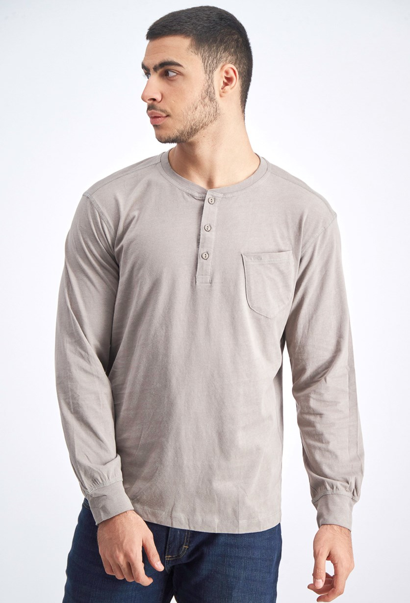Men's Pullover Sweater, Steeple Grey