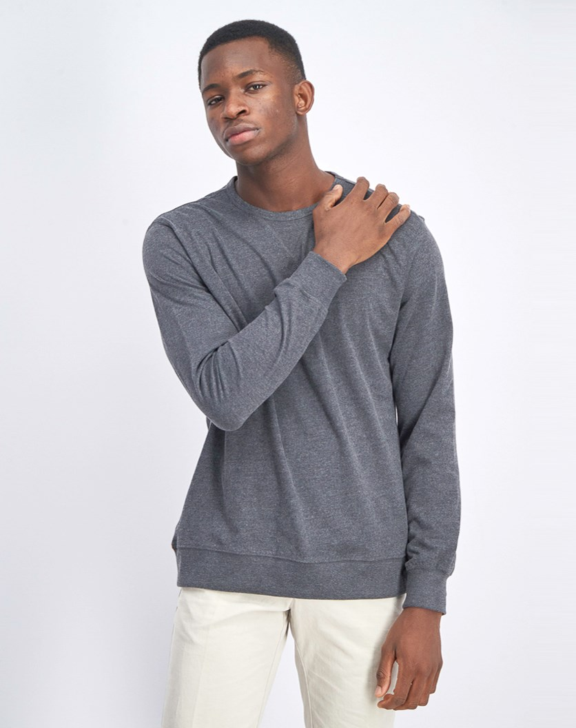 Men's Pullover Sweater, Dark Heather Grey