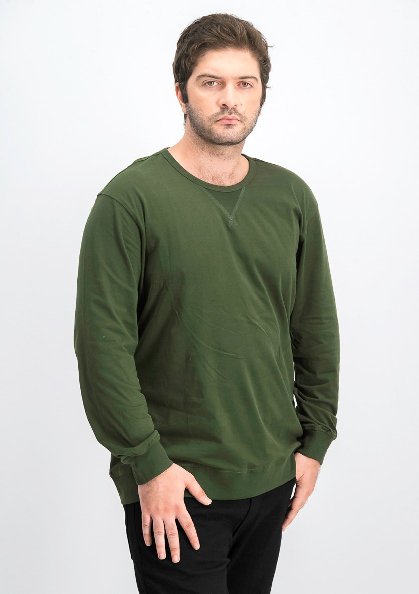 Men's Pullover Sweatshirt, Kombu Green