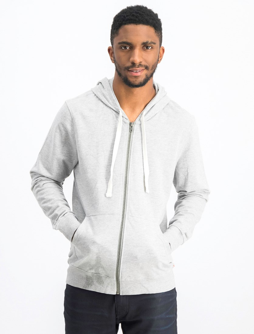 Men's Long Sleeves Hooded Sweaters, Grey