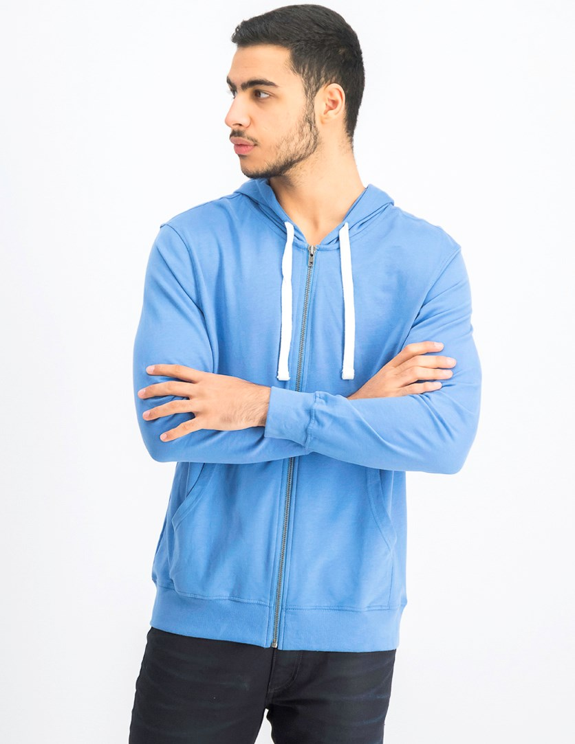 Men's Long Sleeves Hooded Sweaters, Blue