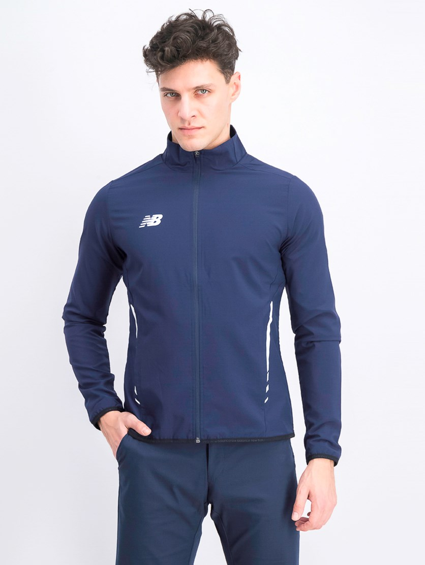 Men's Long Sleeve Woven Jacket, Navy