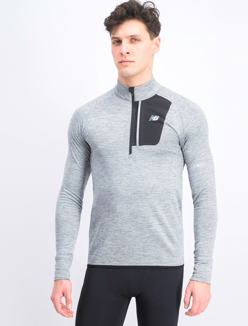 Men's Heat Half Zipper Sweatshirt, Grey