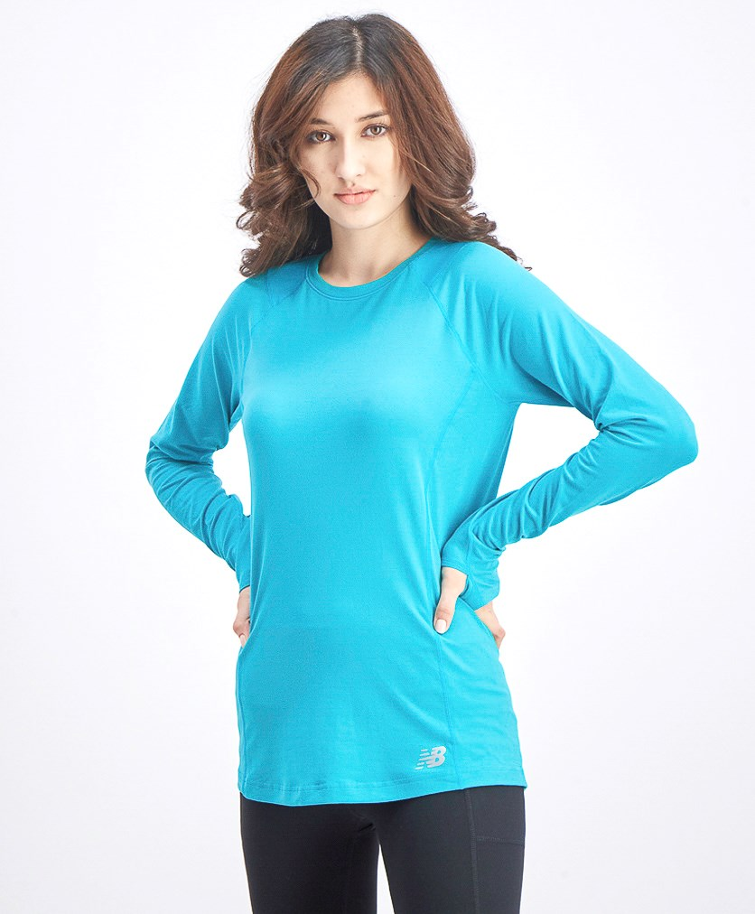 Women's Long Sleeve Sportswear, Teal