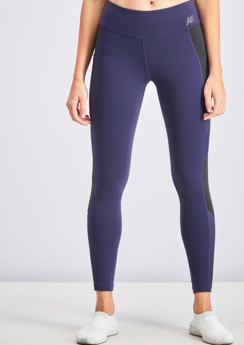 Women's Sports Tights, Navy Blue
