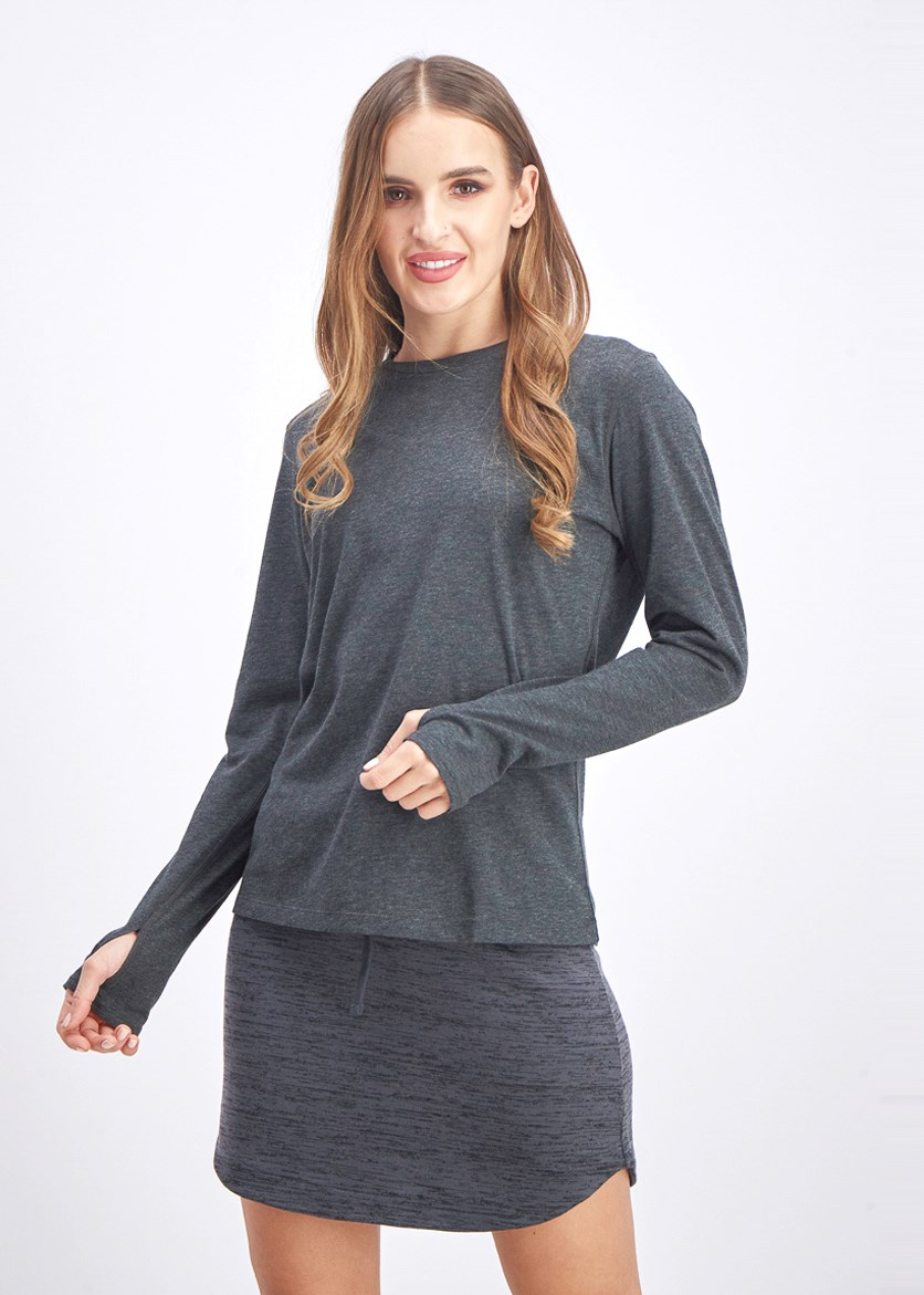 Women's Training Sweatshirt, Dark Grey