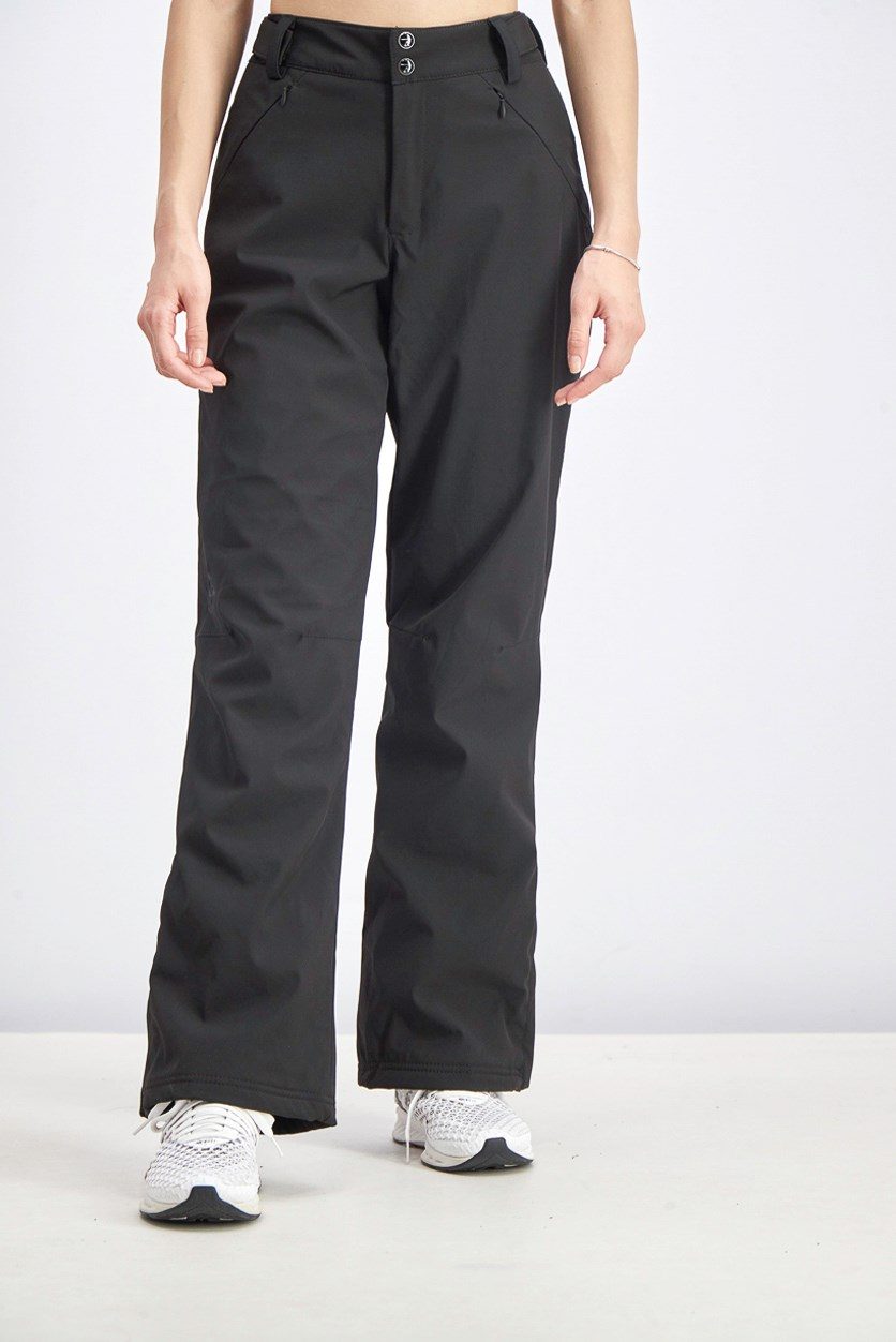 Women's Stretch Snow Pants, Black