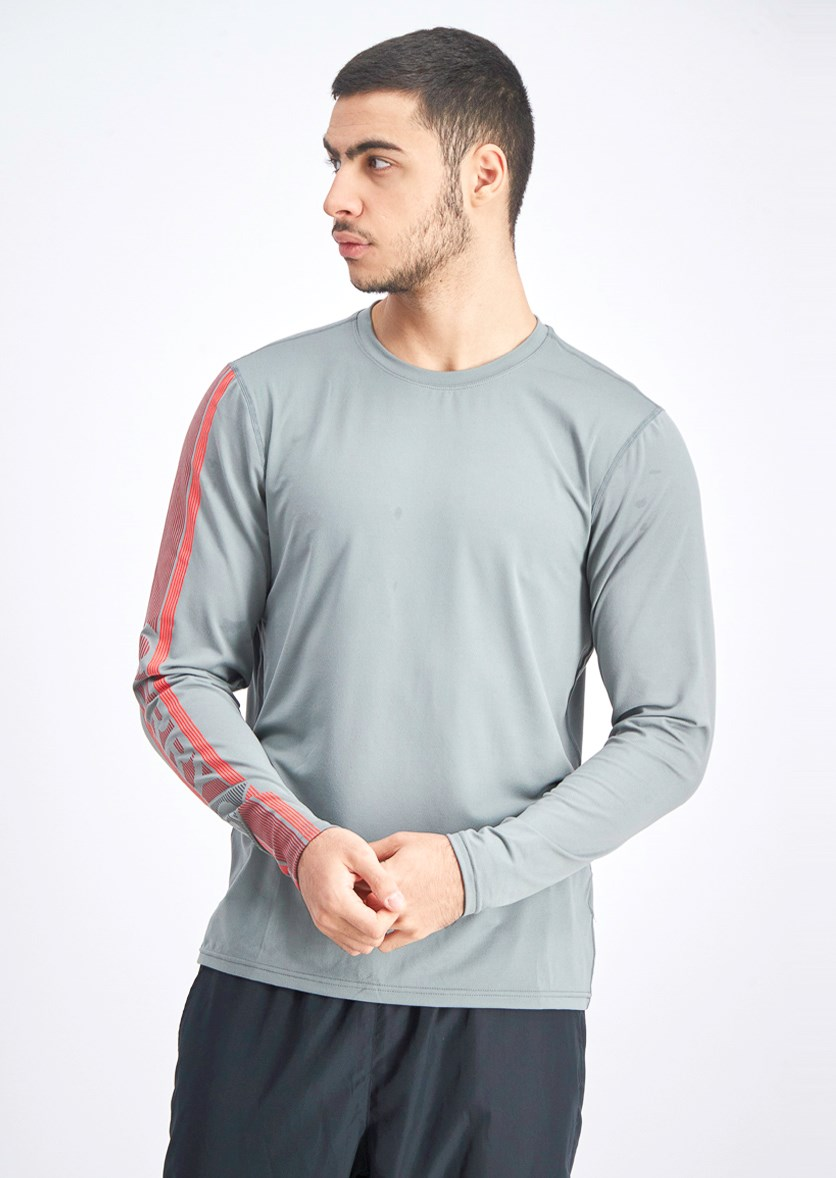 Men's Long Sleeve Tee, Gray