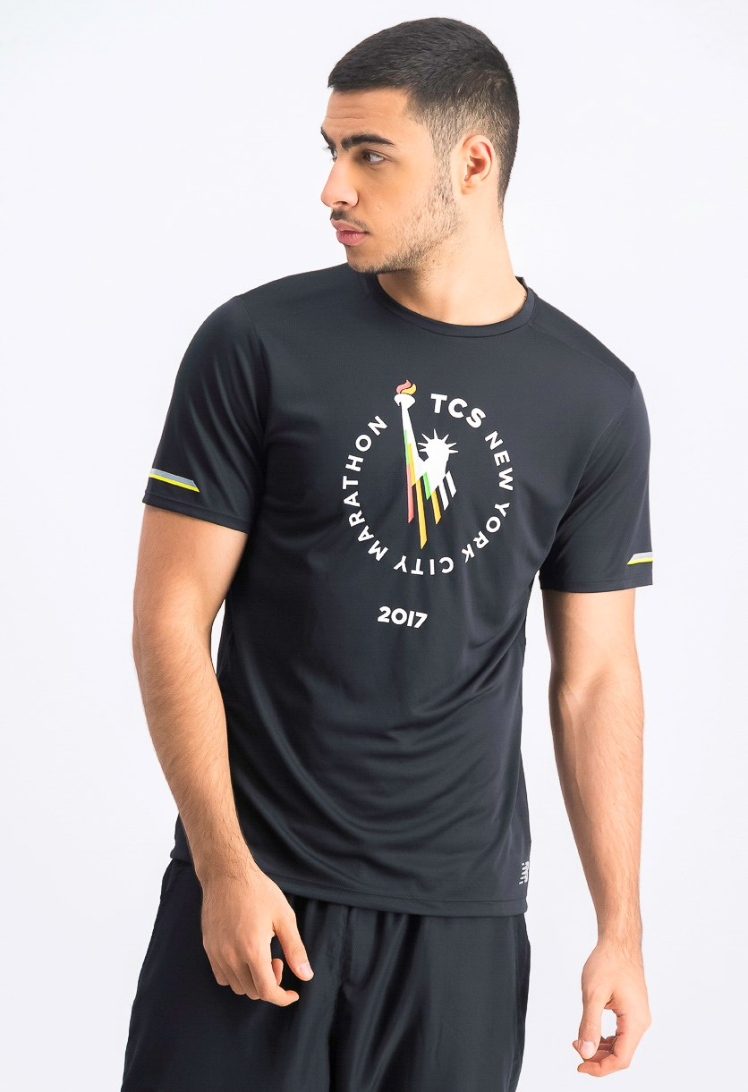 Men's Marathon Graphic Print Sportswear, Black