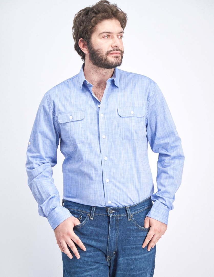 Men's Hutton Button-Down Shirt, Deep Water