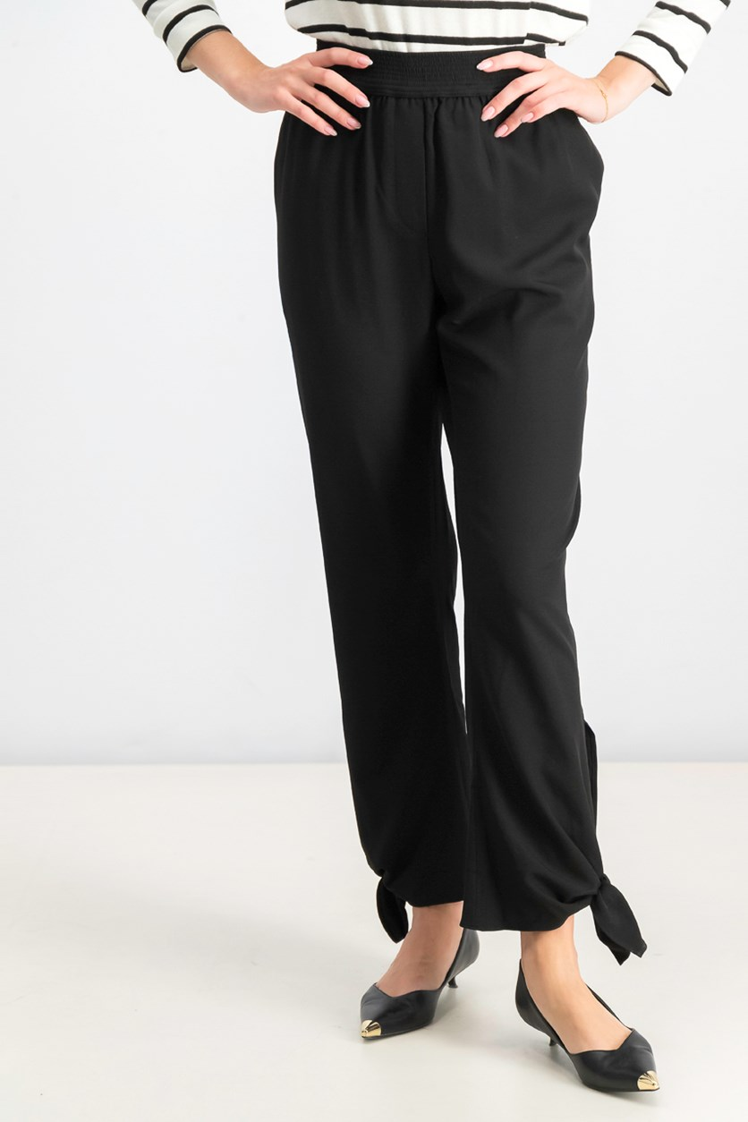 Women's Slim Tapered Pants, Black