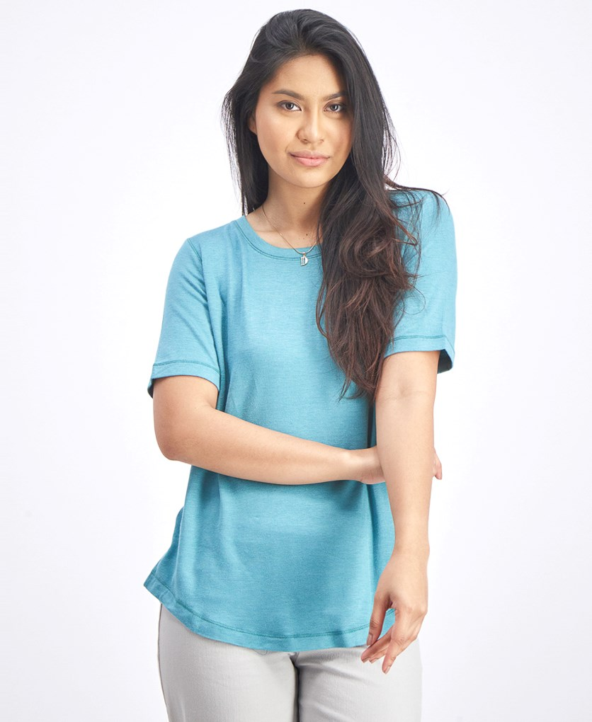 Women's Pullover Blouse, Light Blue