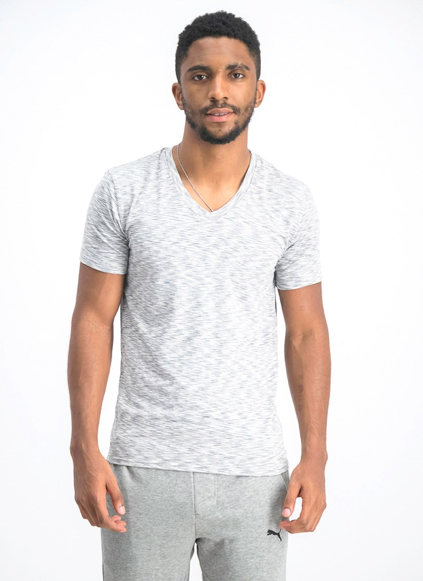 Men's Dynamic Stretch V-Neck Undershirt, White Heather