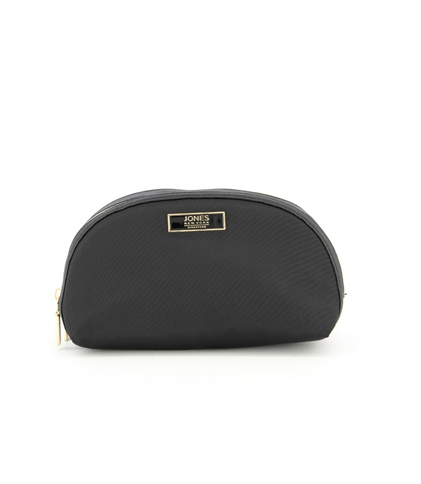 Women's Double Zipper Cosmetic Bags, Black
