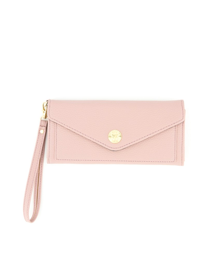 Women's Slip Pocket Wallet Wristlet, Light Coral