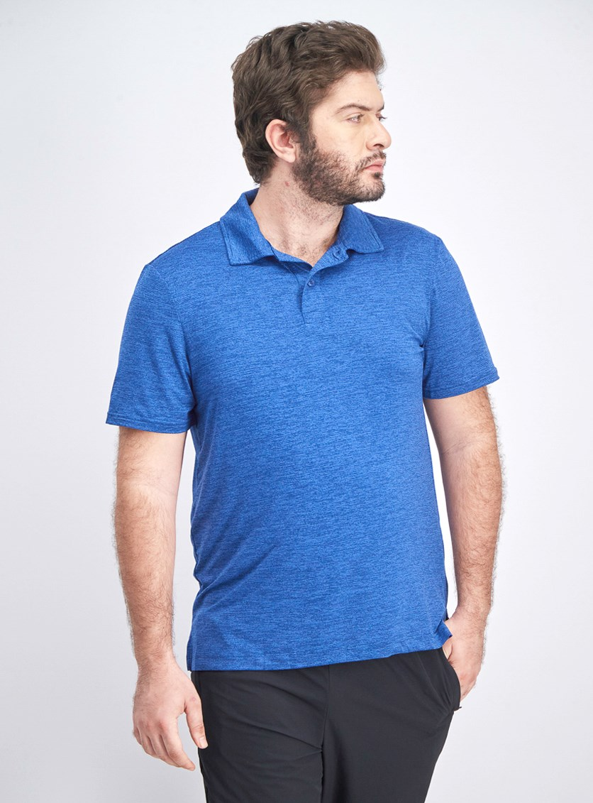 Men's Performance Polo Shirt, Blue Space Dye
