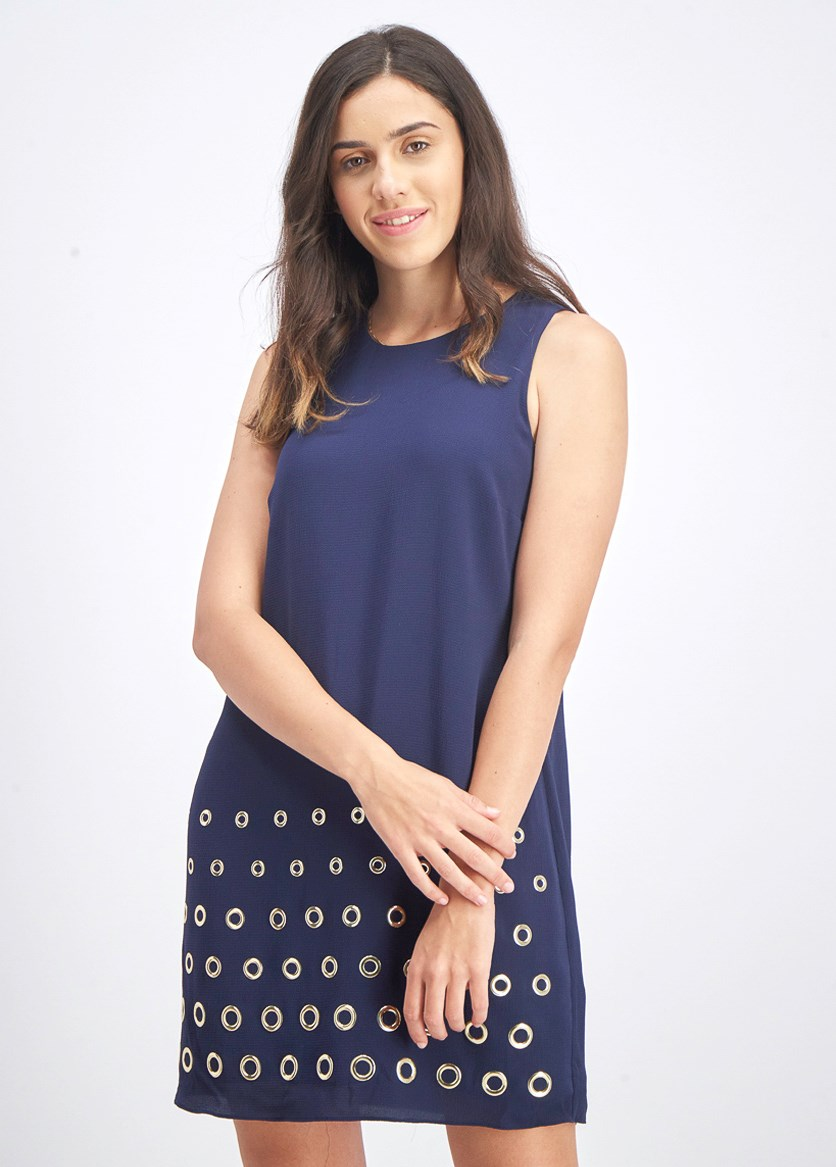 Women's Embellished Ring Dress, True Navy